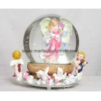 Wholesale polyresin/polystone angel snow ball,snowglobe from china suppliers