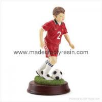 Wholesale Resin Soccer Boy Figure Soccer boy figurine from china suppliers