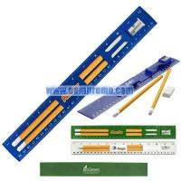 Wholesale Twelve inch ruler holds 2 pencils and an eraser from china suppliers