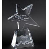 Wholesale Star Trophy On Trapezium Crystal Base from china suppliers