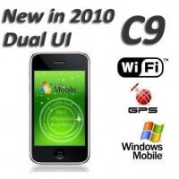 Wholesale C9 Dual UI 3.5 inch Touch Screen Windows Mobile 6.5 Built in GPS WIFI 4GB 8GB from china suppliers