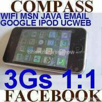 Wholesale 1:1 apple 3Gs iPhone 3.5 inch 32GB WIFI MSN JAVA single sim MAP COMPASS FACEBOOK from china suppliers