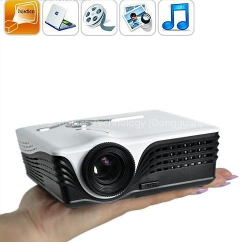 Mini projector led projector home projector office for Micro video projector