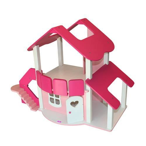 Wood House Wood Doll House Dollhouse Doll Toy Doll Furniture Log Home Log House Toy Home Set