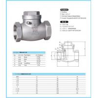 Wholesale CHECK VALVE SWING CHECK VALVE 200PSI/600PSI from china suppliers