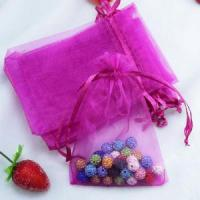 Wholesale Jewelry packaging custom logo organza gift pouch from china suppliers
