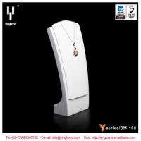 White Black Resin Necklace Jewelry Display Bust Stand MDF Necklace Display