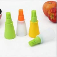 Wholesale Heat-resistant food grade silicone oil bottle with brush head for Barbecue oil jar from china suppliers