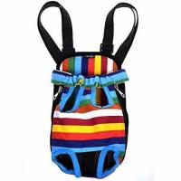 Wholesale Cosmos Small Size Colorful Strip Pattern Pet Dog Legs Out Front Carrier Bag from china suppliers