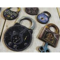 Vintage Lock Set - Collection of 10 Laser Cut Wooden Craft Pieces1