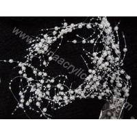 wedding wire beaded pearl string garland decoratio--YZB011