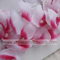 Wholesale fabric silk rose petal garland with wired hanging--SL001- fabric petal from china suppliers