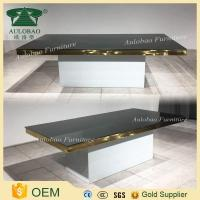 Wholesale Golden frame stainless steel dinning table set with chairs for wedding from china suppliers