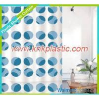 Wholesale Fabric Shower Curtain Blue Dots Design Shower Curtain Fabric, Colorful Bathroom Curtain from china suppliers