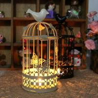 Wholesale big bird cage candlestick from china suppliers