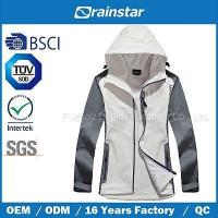 Wholesale White Waterproof & Windbreaker & Breathable Fleece Jacket with Laser Pocket from china suppliers