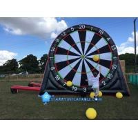 Wholesale New type inflatable foot darts game inflatable soccer kick dart board with magic tape from china suppliers