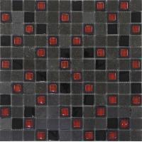 Glass Mixed Stone RS2094 crystal glass mixed black marble mosaic