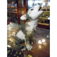 Art Glass Lenox Grey wolf pup porcelain figurine Smithsonian Collection 1992