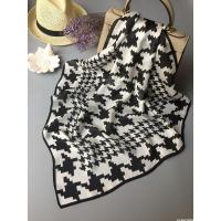 Women's black and white square scarf
