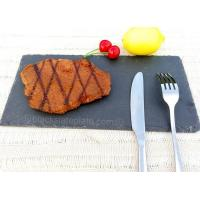 Wholesale Rectangle black slate plate JJSP-005 from china suppliers