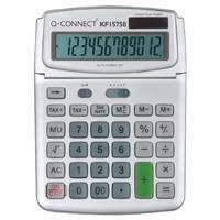 Buy cheap Q-Connect Large Table Top 12 Digit Calculator Grey from wholesalers