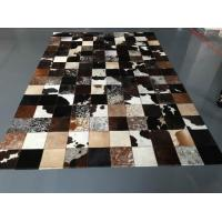 Wholesale Low MOQ Luxury Cow Leather Carpet Patchwork Rug from china suppliers