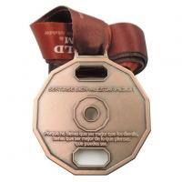 OEM Metal Bronze Medal Medallion with Lanyard