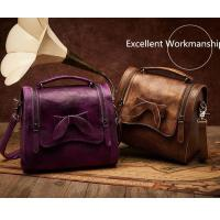 Wholesale Leather&Canvas product Retro Cowhide Genuine Leather Handbag from china suppliers