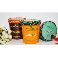 Wholesale 17.5oz 500 ml Custom logo printing ice cream paper cups with paper lid from china suppliers