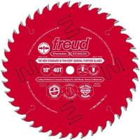 Freud P410T 10-Inch by 40-Teeth 30-Degree Hi-ATB Premier Fusion Thin Kerf Saw Blade 5/8-Inch Arbor