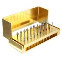 Wholesale Dental Diamond Burs Drill + Disinfection Bur Block High Speed Handpieces 30pcs from china suppliers