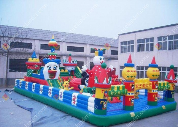 Quality Inflatable Castle Disney Castle for sale