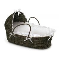 Wholesale Espresso Moses Baby Basket with Hood and White Bedding from china suppliers