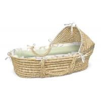 Wholesale Natural Hooded Moses Basket Sage Gingham Bedding from china suppliers