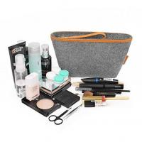 Wholesale hot sale ladies shockproof felt makeup bag dustproof felt cosmetic pouch from china suppliers