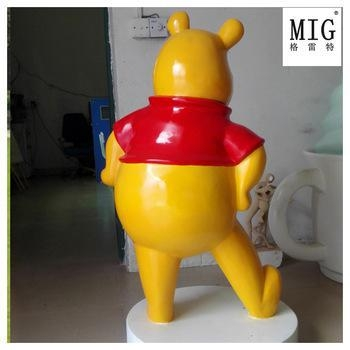 Quality toy super large size vinnie pooh cartoon statue for sale
