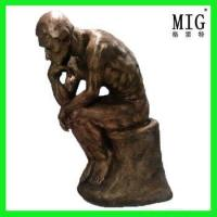 Wholesale Hotel and Restaurant Decoration bronze imitation thinker statue by fiberglass customize size from china suppliers