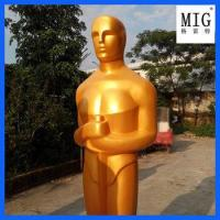 Wholesale hollywood mascots Golden Oscar statue in fiberglass material as indoor decoration from china suppliers