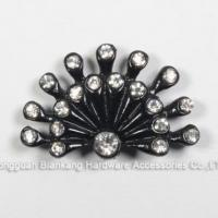 plate Fan Shape Metal Rhinestone Ornament For Ladies Shoes