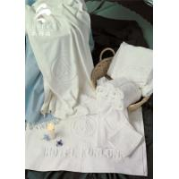 Star Hotel Used White 100% Cotton Jacquard Terry Towel