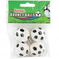 Buy cheap FOOTBALL BOUNCY BALLS (PACK OF 4) - B/W from wholesalers