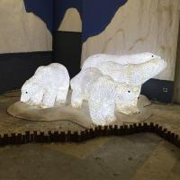 3D Polar Bear Motif Light