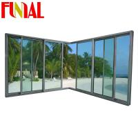 Wholesale Latest design aluminum frame double tempered glass sliding door from china suppliers