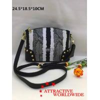 Wholesale PU Leather Women Bowler Bags in Black and White Pattern from china suppliers
