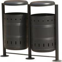 Wholesale Steel Bins Products Name:Arlau BS11 outside furniture manufacturer garbage waste bins from china suppliers