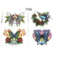 Wholesale 15 BUTTERFLY DESIGNS GLITTER TATTOO from china suppliers