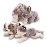 Wholesale Lifelike Mimic Jungle Wild Stuffed Animals Soft Plush Toys Pig Boar Rabbit Elephant Husky Dog Models from china suppliers