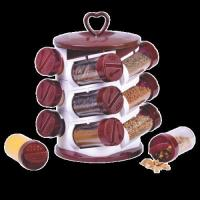 Spice Jar Set (12 Pieces) Masala Rack