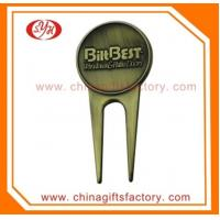 Wholesale Custom embossed logo antique bronze golf pitch tool golf divot repair tool from china suppliers